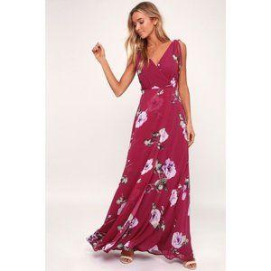 Lulu's Romantic Possibilities Magenta Maxi Dress
